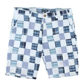 Be-Store Blue Patchwork Shorts