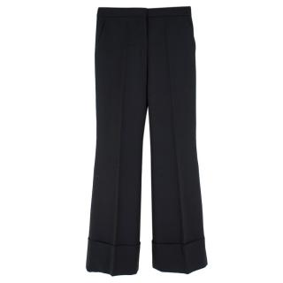 Stella McCartney wide leg black suit trousers