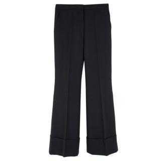 Stella McCartney wide leg black suit trousers