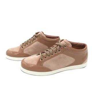 Jimmy Choo Suede & Patent Leather Miami Trainers