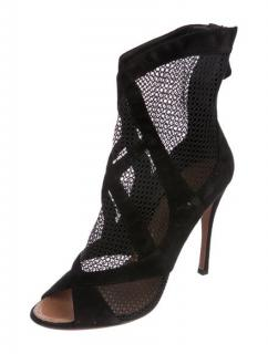 Alaia Laser-Cut Peep-Toe Booties