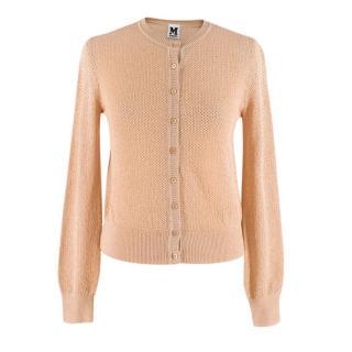 Missoni Gold Crochet Knit Cardigan