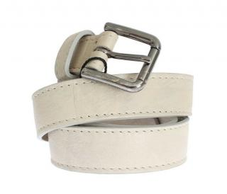 Dolce & Gabbana Beige Leather Belt