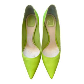Christian Dior Lime Green Pumps