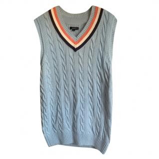 Gant Blue Cable Knit Vest