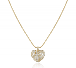 Bespoke Yellow Gold Diamond Heart Pendant