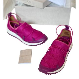 Jimmy Choo Purple Andrea Sneakers