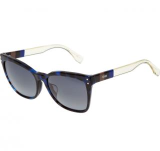 Fendi Blue & Black Tortoiseshell Sunglasses