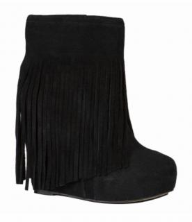 Koolaburra Sheepskin Lined Wedge Fringed Boots