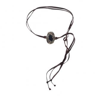 Valentino Cameo Double Tie Leather Belt