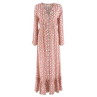 Paloma Blue Pink Primrose Willow Cover Up Dress