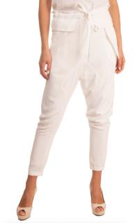 Chloe White Crepe Trousers