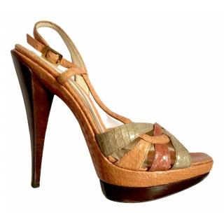 Fendi Watersnake Multi-Coloured Sandals
