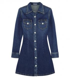 Alexa Chung For AG Jeans Denim Shirt Dress