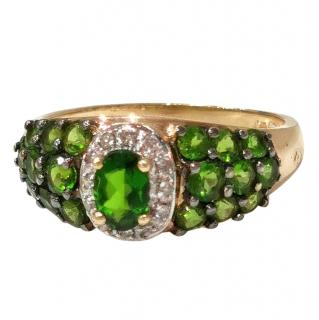 Bespoke Diopside Yellow Gold Cocktail Ring