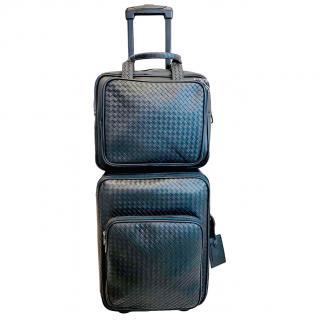 Bottega Veneta Black Intrecciato Luggage Set
