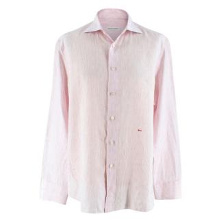 Donato Liguori white & pink pinstripe bespoke tailored shirt