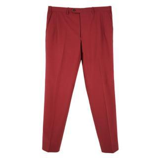 Donato Liguori Maroon Hand Tailored Suit Trousers