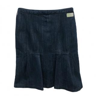 Christian Dior Denim A-Line Skirt