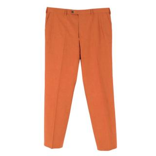 Donato Liguori Burnt Orange Hand Tailored Chinos