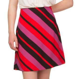 Marni Multi-Coloured Striped A-Line Skirt