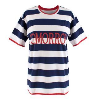 Alberta Ferretti Navy Striped Tomorrow T-shirt