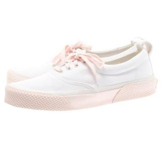 Celine White/Pink Canvas 180 degree Sneakers