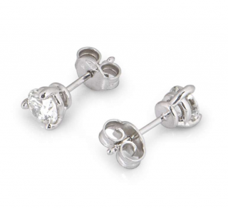 Bespoke White Gold Brilliant Cut Diamond Earrings