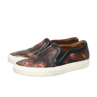 Givenchy Peacock Print Slip-On Sneakers