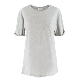 Frame Grey Cotton T-Shirt