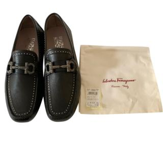 Salvatore Ferragamo Parigi Black Mocassin Loafers