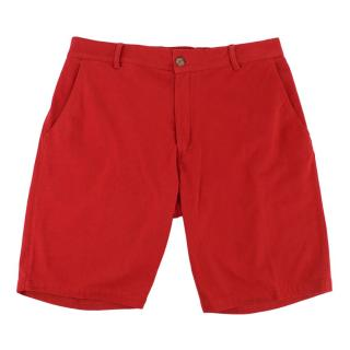 Be-Store Red Cotton Shorts