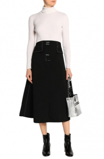 Ellery Flared Canvas Midi Skirt