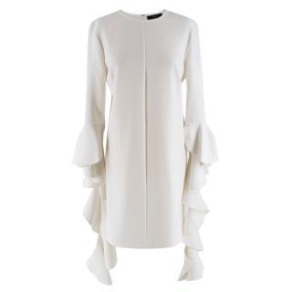 Ellery Kilkenny Frill Sleeve White Tunic Dress