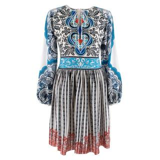 Mary Katrantzou Printed Tie Neck Dress
