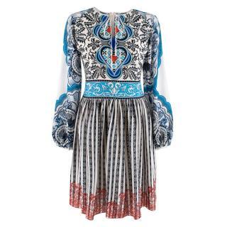 Mary Katrantzou Printed Tie Neck Dress
