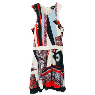 Just Cavalli Sleeveless Multi-Print Dress