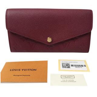 Louis Vuitton raisin leather Sarah Wallet