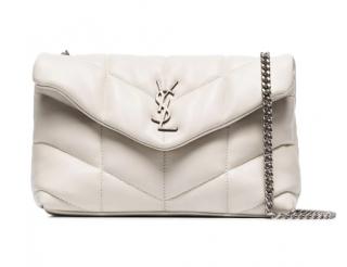 Saint Laurent Vintage White Loulou Puffer Bag