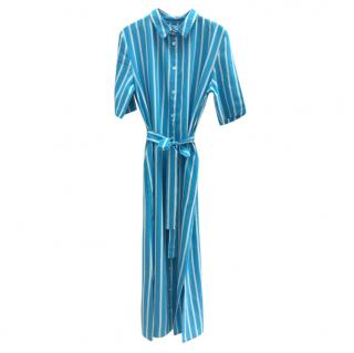 Chinti & Parker Striped Turquoise Shirt Dress