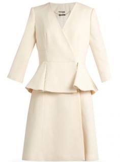 Alexander McQueen Pleated Peplum Dress - Worn By Kate Middleton