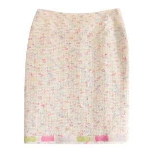 Chanel Multi-Coloured Tweed Boucle Runway Skirt