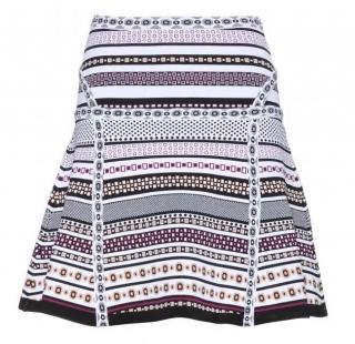 Diane von Furstenberg A-Line Printed Stretch Knit Skirt