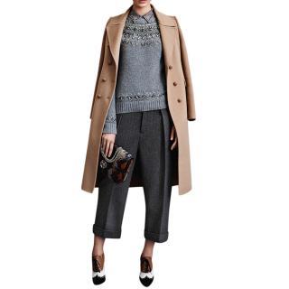 Gucci embellished grey Frida Giannini jumper