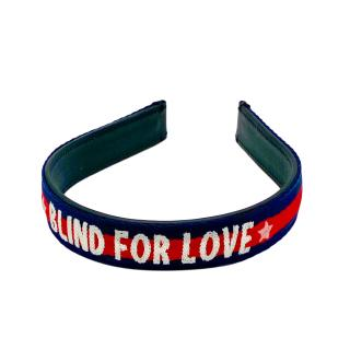 Gucci Blue Web Stripe Blind For Love Headband
