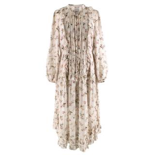 Zimmerman Cream Floral Floaty Midi Dress