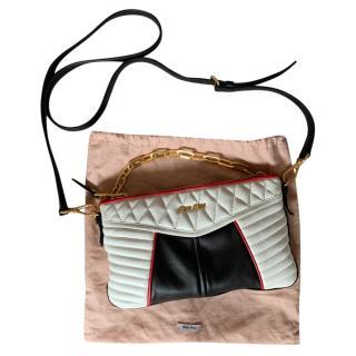 Miu Miu Tri-Colour Nappa Biker Crossbody Bag
