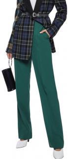 Diane Von Furstenberg Emerald Green Stretch Wool Pants
