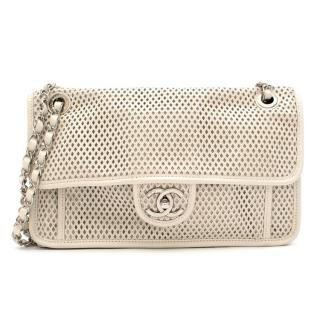 Chanel Up In The Air Flap Bag Perforated Leather Flap Bag