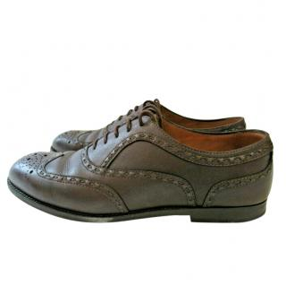 Bottega Veneta Brown Leather Oxford Brogues